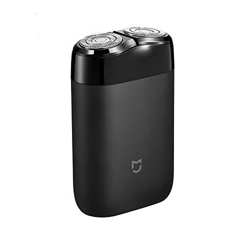 Gooplayer para Xiaomi Mijia afeitadora eléctrica 2 cabeza flotante afeitadoras portátiles de afeitar a prueba de agua USB recargable de acero para hombre