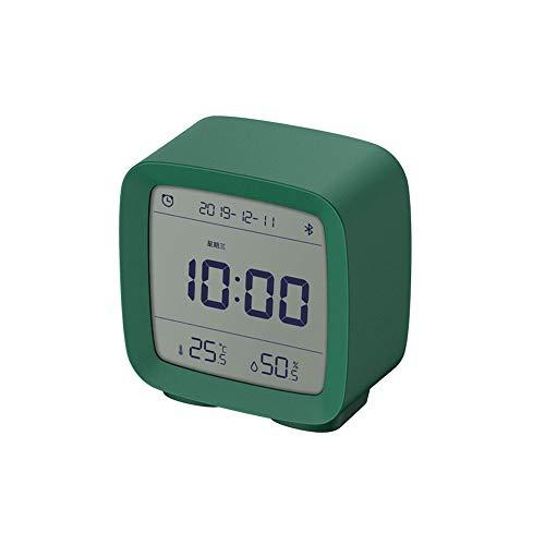 MIJIA ZEYUE Bluetooth Despertador, Pantalla de Humedad y Temperatura Pantalla LCD Luz Nocturna Ajustable (Verde)
