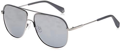 Polaroid PLD 2055/S 1A 6LB Gafas de sol, Gris (Ruthenium/Sl Silver), 59 para Hombre