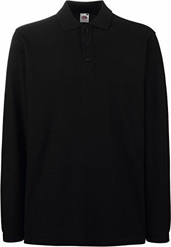 Fruit of the Loom - Premium Longsleeve Polo - Modell 2013 / Black, L L,Black