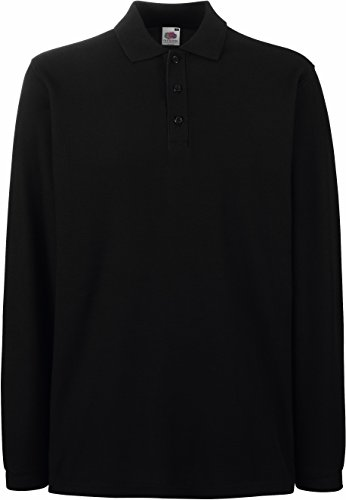 Fruit of the Loom: Premium Long Sleeve Polo 63-310-0, Größe:2XL;Farbe:Black