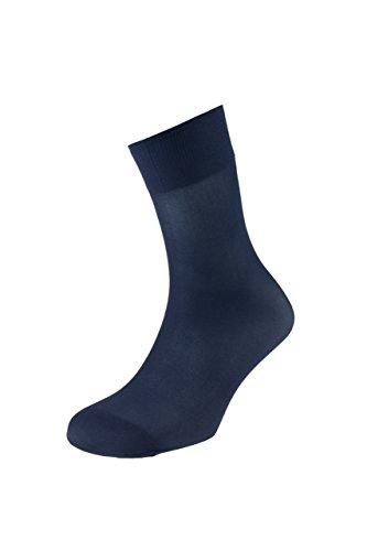 EJECUTIVO - Calcetines Cortos Hombre - Fabricados en Poliamida - Color Marino - Talla Única - Pack de 9 - Tacto Agradable - Diseño liso - Material de gran calidad