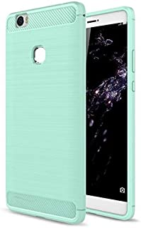 Huawei Honor Note 8 - Carbon Fiber Soft TPU Gel Slim Lightweight Case Cover-Green