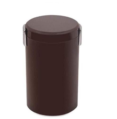 SKKGR Stabiler Abfallsammler Küchentheke Mülleimer Flammhemmendes Material Nichtraucher Mini Auto Aschenbecher Kann Als Auto Mülleimer Schlafzimmer Bett Büro -Brown Verwendet Werden