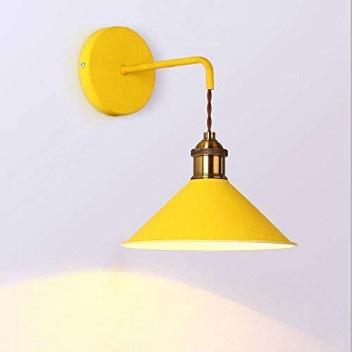 YLCJ wandlamp, tafellamp, bedlamp, macaron, minimalistisch, woonkamer, hal, slaapkamer, trap, wand, geel, zonder schakelaar