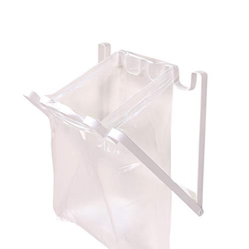 Zengbang Schranktür Hängender Müllsackhalter Küche Zuhause Faltbarer Müllsackständer Hängeorganizer Halterung für Müllsäcke (Weiß, 25 * 22 cm)