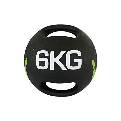 BalóN Medicinal,con Asa BalóN Medicinal el BalóN de Fitness de Doble Mango es Flexible Y Duradero para el Entrenamiento de Fuerza para Quemar Grasa Entrenamiento BáSico