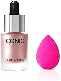 Angelie Iconic Glow Iconic London Illumainator Highlighter For Face Makeup To Glow with Beauty Blender The Ultimate Makeup Sponge Applicator