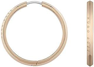 HUGO BOSS WOMEN'S IONIC PLATED CARNATION GOLD STEEL EARRINGS -1580017