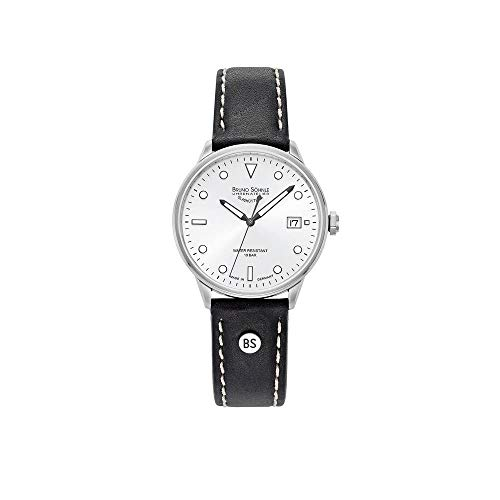 Bruno Söhnle Herren Analog Quarz Uhr mit Echtes Leder Armband 17-13183-291