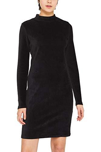edc by ESPRIT Damen 119CC1E003 Kleid, Schwarz (Black 001), X-Large (Herstellergröße: XL)