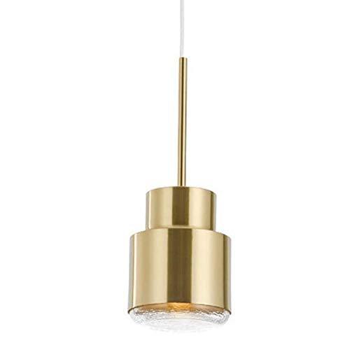 Hobaca® D13cm H36cm E27 Cristal dorado Lámpara colgante moderna nórdica Lámpara colgante de comedor Lámpara de diseño de iluminación de isla de cocina