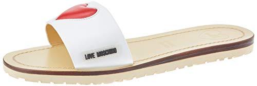 Love Moschino Damen Ja2809 Peeptoe Sandalen, Weiß (Bianco 100), 36 EU