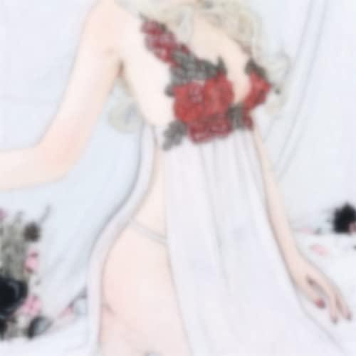 Šëxy Camicia da notte in pizzo trasparente Pigiama per donna, uniforme femminile Tëmptátión Completo intimo Lingerie ṢṂ Set