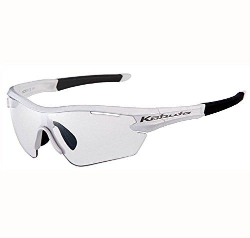 オージーケーカブト(OGK KABUTO) 自転車 スポーツサングラス/アイウエア 101PH (撥水クリア調光レンズ) ホワイト サイズ:S