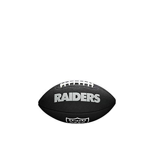 NFL Team Logo Mini Fußball, Schwarz - Oakland Raiders