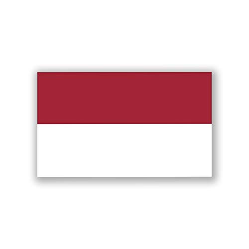 JMM Industries Indonesia Flag Vinyl Decal Sticker Indonesian Car Window Bumper 2-Pack 5-Inches by 3-Inches Premium Quality UV-Resistant Laminate PDS448