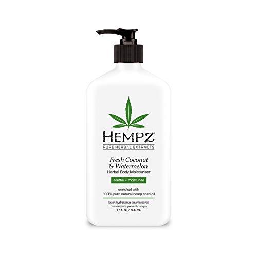 Price comparison product image Hempz Natural Herbal Body Moisturizer: Fresh Coconut & Watermelon Moisturizing Skin Lotion,  17 oz