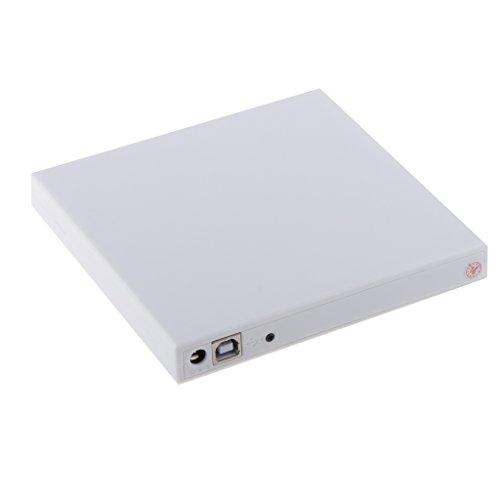 TISHITA デスクトップPC用の白い外付けUSB CD/DVD RWドライブマルチプレーヤーライター&バーナー