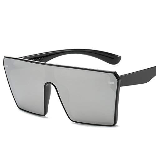 SKJH Gafas de Sol con Parte Superior Plana para Hombre, Gafas de Sol cuadradas con gradiente UV400 para Hombre y Mujer