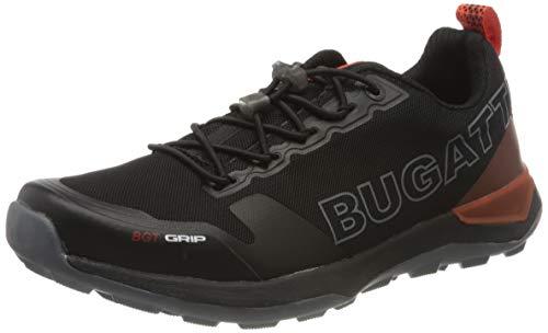 Bugatti 342-84901-5900 1000 Herren Sportiver Sneaker Lederimitat Wechselfußbett, Groesse 47, schwarz