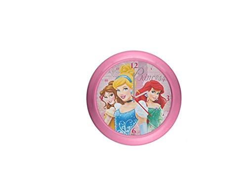 Star Disney Princess - Reloj de pared (plástico, 25,5 cm, 2 colores surtidos)