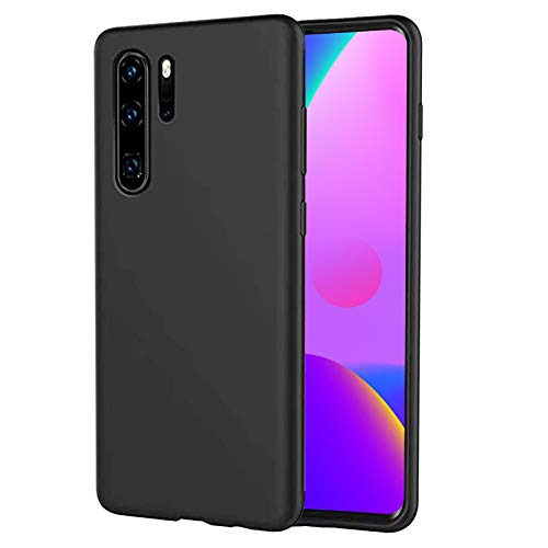 Hulle fur Huawei P30 Pro Ultra Dunn Sanft Silicone TPU Handyhulle 360 Voll abgedeckte stosfeste Schwarz Handyhulle fur Huawei P30 Pro Schwarz