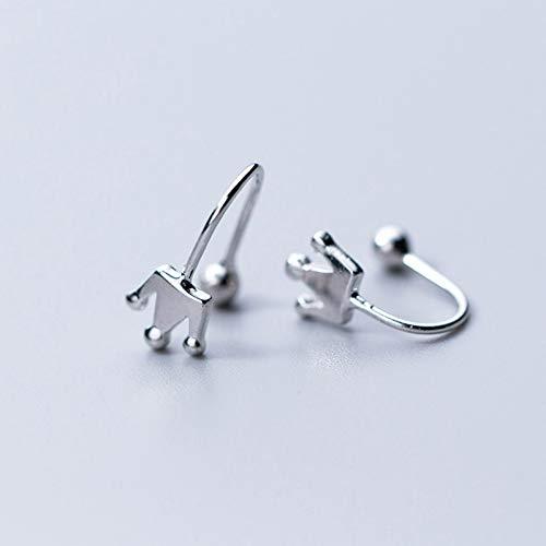 QQSS 925 Echtes Sterling Silber Sommer Krone Ohr Manschette Clip Auf Ohrringe Für Mädchen Ohne Piercing Ohrring Schmuck