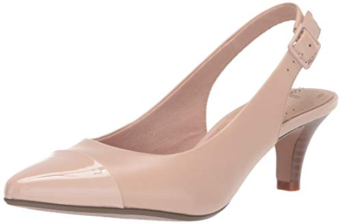 Clarks Women's Linvale Emmy Pump, Dusty Pink Leather/Synthetic, 6 M US