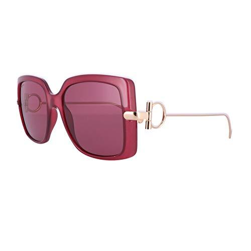 FERRAGAMO SF913S Injected Sonnenbrille Wine Unisex Erwachsene Mehrfarbig, Standard