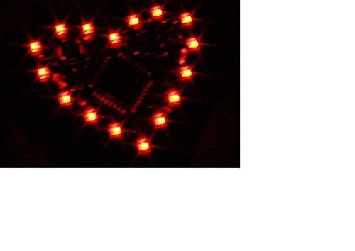 LED-Party-Button-16 Herz ,Blinklicht, Lauflicht , Lichteffekte programmierbar