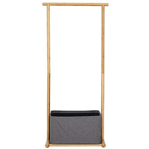 Perchero para Abrigos Monorriel Ropa de madera de bambú Estante Estante de la esquina del dormitorio Estante de la esquina Rack Combinación simple Almacenamiento del estante Ropa Bufanda y bolso pasil