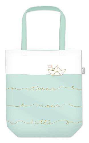 Grafik Werkstatt Einkaufstasche mit lustigem Spruch|Shopping-Bag faltbar | leichte Tasche | Meer