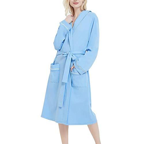 BAYUE Badjas Vrouwen Katoen Pyjama Voor Vrouwen Herfst Effen Kleur Katoen Pyjama Nachtjapon Lingerie Badjas Met Riem#g3