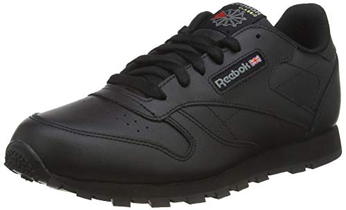 Reebok Classic Leather, Unisex-Kinder Sneaker, Schwarz (Black), 36 EU