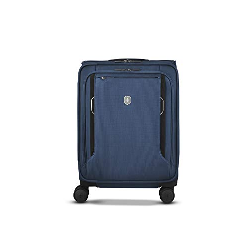 Victorinox Werks Traveler 6.0 Softside Global Carry-On - Valigia Trolley Bagaglio a Mano Espandibile - Leggero 4 Ruote - 20x40x55cm - 34l - 3,2Kg - Blu