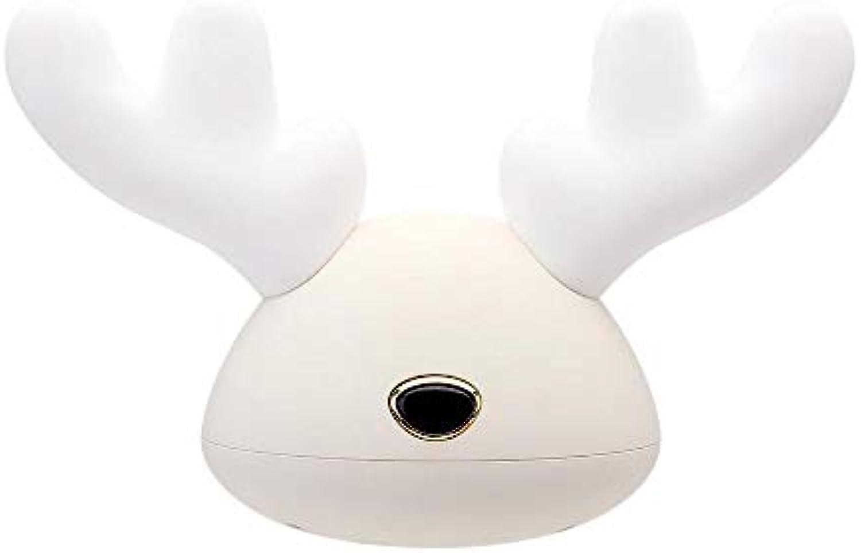 Rotwild-Silikon-Helles Karikatur-Kind Mit Hellem Kreativem Geschenk Des Schlafenlicht-LED Buntem Nachtlicht USB-Weihnachtslicht