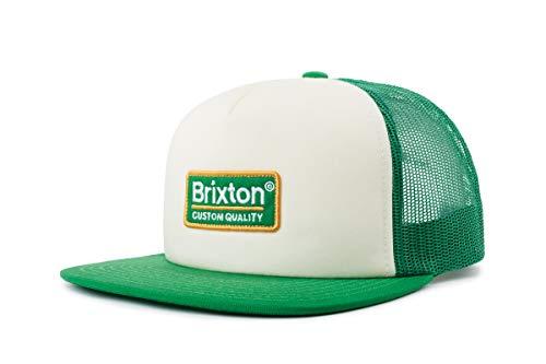 BRIXTON - Gorra de Malla Unisex, Unisex Adulto, Headwear, 00611, Blanco/trébol, Talla única