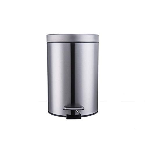 WSQ Bidoni per rifiuti con pattumiera con coperchio Tappi in acciaio inox con cestino in casa e amp; Cucina Bagno Ufficio-B/D