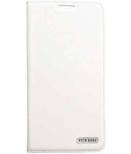 Dhavals shoppe Leather Flip Flap Cover for Sony Xperia C S39h C2305 White