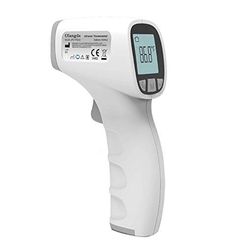 Olangda Forehead Thermometer for Adults, (Without Batteries), Non Contact Infrared Thermometers, Digital Thermometer with Instant Readings