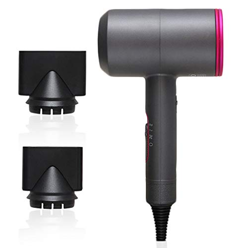 Hair Dryer Professional 1800W Ion Regulated Constant Temperature, 3 Speed 2 Nozzle Fast Hair Dryer 110v Small Household Appliances (Color : B)