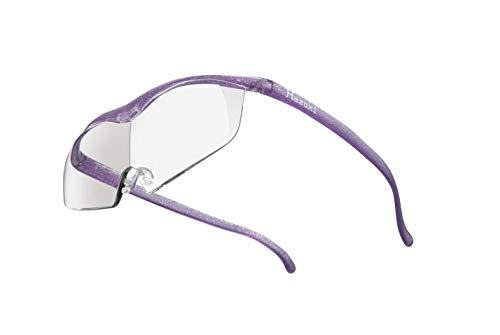 Hazuki ハズキルーペ 直営店 公式店 限定 倍率交換保証付き ラージ 1.85倍 クリアレンズ ニューパープル ハズキ 拡大鏡 ルーペ メガネ型 眼鏡型 めがね型 メガネ 眼鏡 めがね 日本製 MADE IN JAPAN ギフト