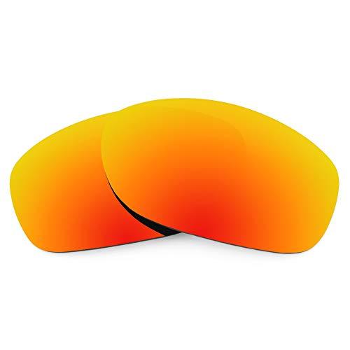 Revant Revant Ersatzgläser für Oakley Pit Bull - Kompatibel mit für Oakley Pit Bull, Polarisiert, Feuerrot MirrorShield