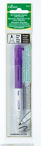 CLOVER 5032 Purple Fine Air Erasable Marker with Eraser