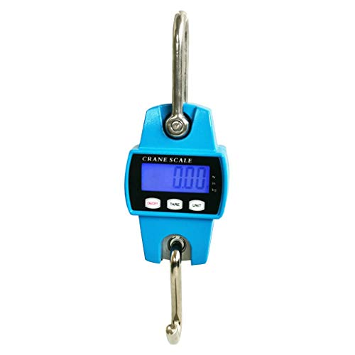 Kitchen Mini Digital Crane Scale,300kg/600lbs With LCD/Luggage Scale Multifunctional weighing (Color : Blue, Size : 150 * 85 * 46mm)