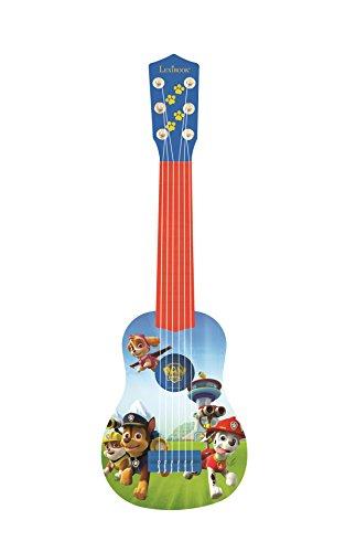 Lexibook K200PA PAW Patrol Helfer auf vier Pfoten Chase Gitarre, 6 echte Nylon Saiten, Groß für die Kleinen Fingern, Blau/ Orange