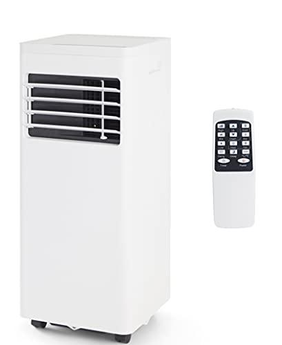 Coolserie Klimaanlage Klimagerät mobil mit Abluftschlauch und Fernbedienung, Kühler, Entfeuchter, Ventilator für Räume bis 15qm, 780 Watt, Weiß