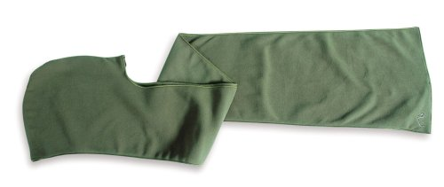 Tatonka Hooded Scarf 100 Fleece-Schal, dark moss