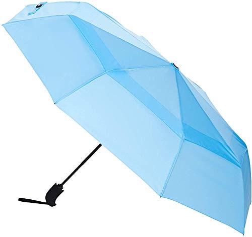 Amazon Basics Automatic Open Travel Umbrella with Wind Vent - Light Blue
